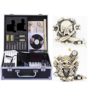 cheap Professional Tattoo Kits-Professional Tattoo Kit Tattoo Machine - 2 pcs Tattoo Machines, High Speed / Variable Speeds / Professional Level Alloy # 2 carved machine liner & shader