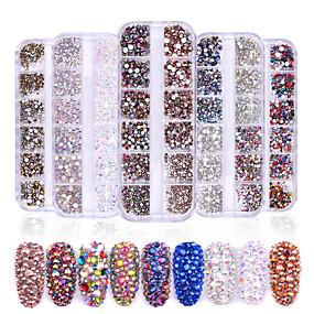cheap Nail Glitter-1 / box Mixed Material Glitter Powder Fashionable Design Luminous Glitters Retro Wedding Party Daily Wear for Finger Nail Toe Nail