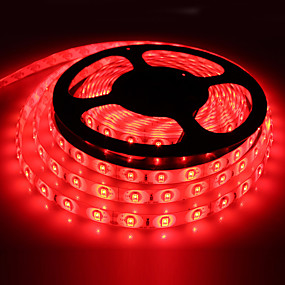 cheap Light Strips & Strings-HKV® 5m LED Light Strips Waterproof Tiktok Lights Desk Lamp 5630 10mm 72W Red Blue Green 300Led Light Garden Light DC 12V