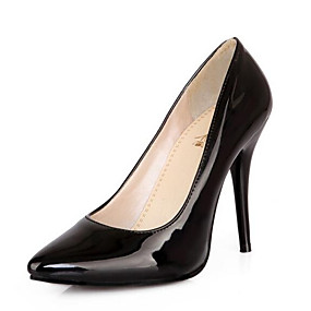 cheap Women's Pumps-Women's Heels Plus Size Pumps Pointed Toe Business Classic Basic Daily Office & Career Solid Colored Patent Leather Summer Black / Yellow / Red