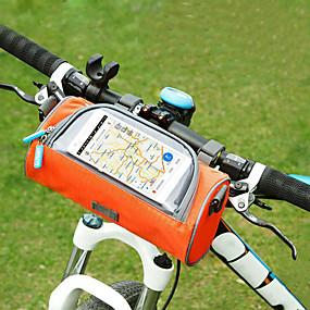 preiswerte Fahrradlenkertaschen-Handy-Tasche Fahrradlenkertasche 6 Zoll Touchscreen Radsport für Radsport iPhone X iPhone XR Orange Rosa Militßrgrün / iPhone XS / iPhone XS Max