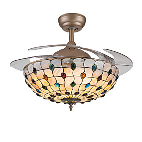 cheap Ceiling Fan Lights-1-Light QINGMING® 107 cm Mini Style Ceiling Fan Metal Shell Novelty Painted Finishes Nature Inspired / Traditional / Classic 110-120V / 220-240V / VDE