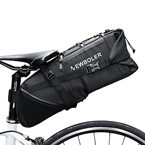 preiswerte Fahrradsatteltaschen-10 L Fahrrad-Sattel-Beutel Reflektierend Einstellbar Hohe Kapazität Fahrradtasche Polyester 900D Tasche für das Rad Fahrradtasche Rennrad Geländerad / Wasserdicht