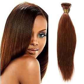 preiswerte Tres Jolie®-1 Bündel Indisches Haar Yaki Cabello Natural Remy Menschenhaar spinnt 10-20 Zoll Menschliches Haar Webarten Haarverlängerungen / 10A