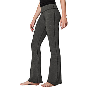 cheap Yoga & Fitness-Women's Yoga Pants Bootcut Flare Leg Breathable Quick Dry Moisture Wicking Wine Black Navy Blue Spandex Fitness Gym Workout Running Sports Activewear High Elasticity / Hidden Waistband Pocket