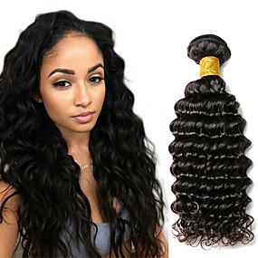 preiswerte Tres Jolie®-1 Bündel Indisches Haar Wogende Wellen Echthaar Menschenhaar spinnt 10-20 Zoll Menschliches Haar Webarten Haarverlängerungen / 8A