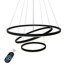 preiswerte 70% OFF-UMEI™ Kreisförmig Kronleuchter Raumbeleuchtung Lackierte Oberflächen Aluminium Acryl Kreativ, Verstellbar, Abblendbar 110-120V / 220-240V Weiß / Dimmbar mit Fernbedienung / Wi-Fi Smart / FCC