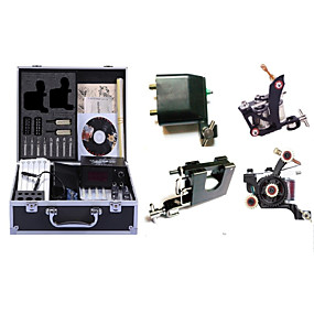 cheap Professional Tattoo Kits-Professional Tattoo Kit Tattoo Machine - 4 pcs Tattoo Machines, High Speed / Variable Speeds / Professional Level Alloy # 2 rotary machine liner & shader / 2 alloy machine liner & shader