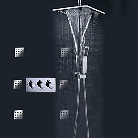 preiswerte Renovierung-Duscharmaturen - Moderne Chrom Wandmontage Keramisches Ventil Bath Shower Mixer Taps / Messing