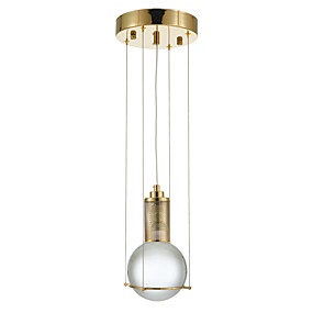 povoljno Viseća rasvjeta-Glob Privjesak Svjetla Ambient Light Slikano završi Crystal Protiv odsjaja, Mini Style 110-120V / 220-240V Bulb not included / FCC / E26 / E27