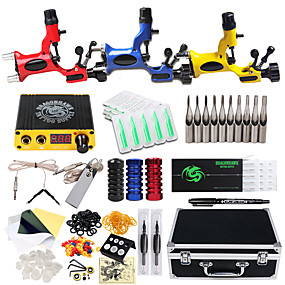 cheap Professional Tattoo Kits-DRAGONHAWK Tattoo Machine Professional Tattoo Kit - 3 pcs Tattoo Machines, Professional / Safety / Easy to Setup Alloy LCD power supply Case Included 3 rotary machine liner & shader