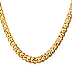 preiswerte Schmuck für Herren-Herrn Ketten Gliederkette Modisch Rockig Edelstahl Gold Schwarz Silber 55 cm Modische Halsketten Schmuck 1pc Für Geschenk Alltag