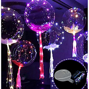cheap Christmas Decorations-3M 30LED Balloon with Led Strip Luminous Led Balloons for Wedding Decorations Birthday Party Christmas Premium Year