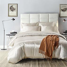 preiswerte Chinesische rote Bettbezüge-Bettwäschesätze / Rayon ultra seidig weich / einfarbig Reaktivdruck 3-teilige Bettwäschesätze