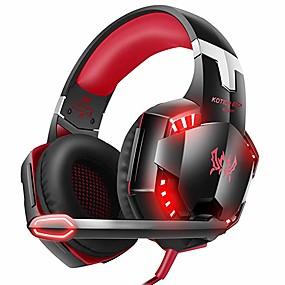 voordelige Gaming-kotion elke g2000 xbox one-gamingheadset met surround sound stereo, ps4-headset met ruisonderdrukkende microfoon en led-licht, compatibel met pc, ps4, Nintendo-schakelaar