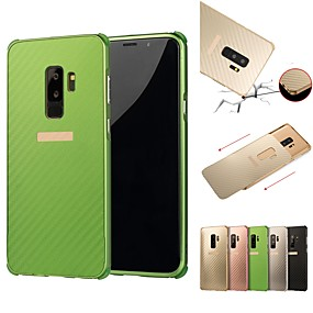 povoljno Maske za mobitele-Θήκη Za Samsung Galaxy S9 / S9 Plus / S8 Plus Otporno na trešnju / Pozlata Stražnja maska Jednobojni Tvrdo Aluminij