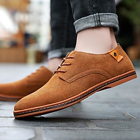 cheap Men's Oxfords-Men's Formal Shoes Suede Spring &  Fall Oxfords Black / Yellow / Red / EU42