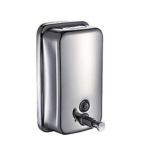 cheap Soap Dispensers-Wall Mounted Hand Sanitizer Machine Soap Dispenser Press Stainless steel 500 ml Building Entrance Necessary