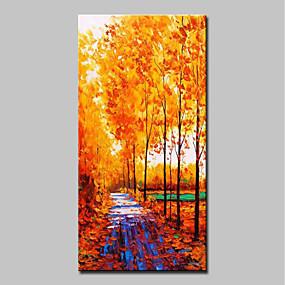 povoljno Slike za cvjetnim/biljnim motivima-Hang oslikana uljanim bojama Ručno oslikana - Pejzaž Cvjetni / Botanički Klasik Moderna Bez unutrašnje Frame / Valjani platno