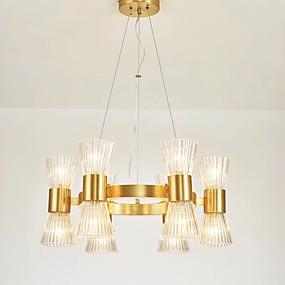 preiswerte Modern Beleuchtung-QIHengZhaoMing Kronleuchter Raumbeleuchtung Galvanisierung Metall Glas 110-120V / 220-240V Wärm Weiß Inklusive Glühbirne