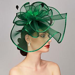 povoljno Melbourne Cup Carnival Hats-Perje / Net Kentucky Derby Hat / Fascinators / Headpiece s Perje / Cvjetni print / Cvijet 1pc Vjenčanje / Special Occasion Glava