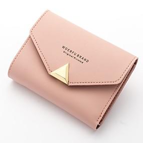 preiswerte Up to 70% off for fashion bags-Damen Reißverschluss PU Portemonaies Schwarz / Dunkelgrau / Purpur