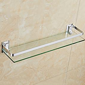 billige Baderomshyller-baderomshylle veggmontering / kule moderne briller / rustfritt stål 1 set 44cm lengde