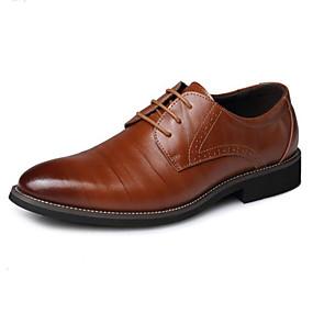 levne Větší obuv-Pánské Společenské boty mikrovlákno Jaro Business Oxfordské Hnědá / Modrá / Fialová