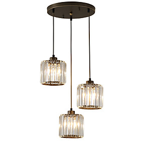 povoljno Viseća rasvjeta-3-Light Kristal Privjesak Svjetla Ambient Light Electroplated Slikano završi Metal Crystal, Mini Style 110-120V / 220-240V Bulb not included / FCC