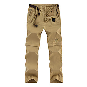 cheap Camping, Hiking & Backpacking-Men's Hiking Pants Trousers Convertible Pants / Zip Off Pants Summer Outdoor Quick Dry Multi Pockets Lightweight Breathable Nylon Pants / Trousers Bottoms Army Green Black Khaki Camping / Hiking