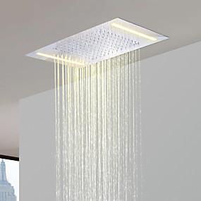 halpa Suihkupäät-ruostumatonta terästä 304 110v ~ 220v vaihtovirta kylpyhuone sadesuihku pään energiansäästöön led-lamput