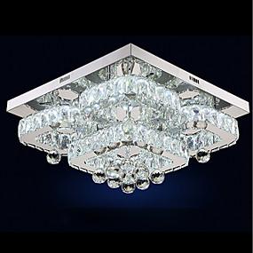 povoljno Stropna svjetla i ventilatori-UMEI™ Cirkularno / Kristal / Geometrijski oblici Flush Mount Ambient Light Electroplated Metal Crystal, Prilagodljiv, Zatamnjen 110-120V / 220-240V Meleg fehér / Bijela Uključen je LED izvor / FCC