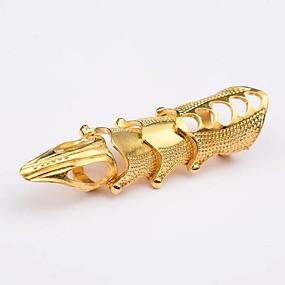 billige Vintage Ring-Dame Statement Ring Knokering Åpne Ring 1pc Gull Sølv Brun Legering Geometrisk Form damer Uvanlig Asiatisk Jul Halloween Smykker Vintage Stil Kreativ Kul