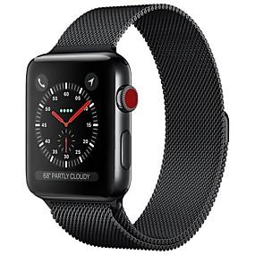 preiswerte Smart Watch Band-Edelstahl Uhrenarmband Gurt für Apple Watch Series 4/3/2/1 Schwarz / Blau / Silber 23cm / 9 Zoll 2.1cm / 0.83 Inch