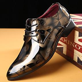 levne Větší obuv-Pánské Společenské boty PU Jaro Business Oxfordské Žlutá / Červená / Modrá