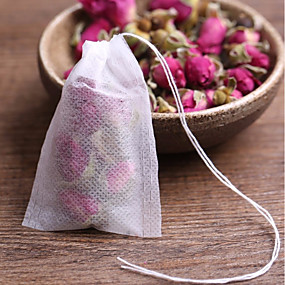 voordelige Koffie en Thee-20 stks theezakjes lege geurende theezakjes met string genezen seal filter papier voor kruid losse thee bolsas