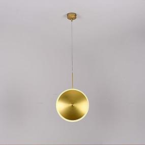povoljno Viseća rasvjeta-ZHISHU Cirkularno / Geometrijski oblici Privjesak Svjetla Ambient Light Brushed Metal New Design 110-120V / 220-240V Topla bijela i bijela Uključen je LED izvor svjetlosti / Integrirano LED svjetlo