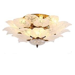 billige Forbedringer til hjemmet-QIHengZhaoMing 10-Light Skyllmonteringslys Omgivelseslys galvanisert Metall Glass 110-120V / 220-240V Varm Hvit / Kald Hvit