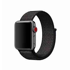 preiswerte Smart Watch Band-Nylon Uhrenarmband Gurt für Apple Watch Series 4/3/2/1 Schwarz / Silber / Orange 23cm / 9 Zoll 2.1cm / 0.83 Inch