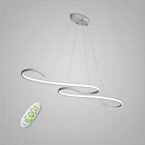 billiga Hängande belysning-Linjär Hängande lampor Glödande Målad Finishes Metall Matt, Glödlampa inkluderad, Justerbar 110-120V / 220-240V Varmt vit / Kall vit / Dimbar med fjärrkontroll LED-ljuskälla ingår / Integrerad LED