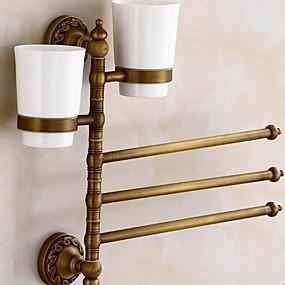 preiswerte Zahnbürstenhalter-Zahnbürstenhalter Neues Design / Cool Modern Messing 1pc Zahnbürste und Zubehör Wandmontage