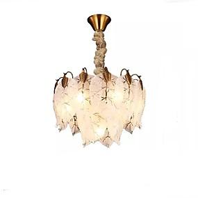 povoljno Viseća rasvjeta-QIHengZhaoMing 7-Light Lusteri Ambient Light Electroplated Metal Glass 110-120V / 220-240V Meleg fehér / Hladno bijela Bulb Included
