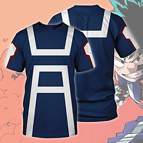 cheap Casual Wear-Inspired by My Hero Academy Battle For All / Boku no Hero Academia Cosplay T-shirt Terylene Cartoon Sporty For Unisex