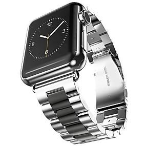 preiswerte Smart Watch Band-Edelstahl Uhrenarmband Gurt für Apple Watch Series 4/3/2/1 Schwarz / Gold 23cm / 9 Zoll 2.1cm / 0.83 Inch