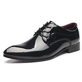 voordelige Wijdere maten schoenen-Heren Formele Schoenen Imitatieleer Herfst winter Zakelijk / Brits Oxfords Water Proof Kleurenblok Zwart / Wit / Rood / Feesten & Uitgaan / Feesten & Uitgaan / Comfort schoenen