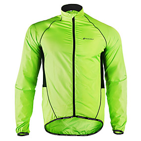 cheap Under €29-Nuckily Men's Cycling Jacket Bike Jacket Windbreaker Raincoat Waterproof Windproof Breathable Sports Polyester Winter Green Mountain Bike MTB Road Bike Cycling Clothing Apparel Advanced Relaxed Fit