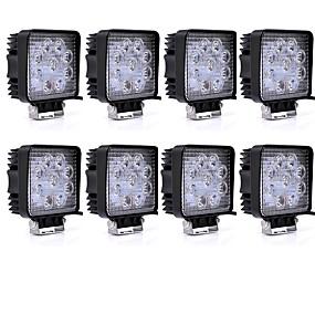 cheap Car Lights-8 Pieces 27W 1755LM SUV Heavy Duty ATV Combination Lighting Pattern LED Work Light