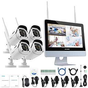 preiswerte ANNKE® Sicherheitssysteme-annke® 4ch 1080p wifi nvr sicherheitssystem wasserdichte ip-kamera ohne hdd