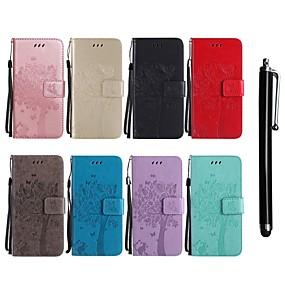 povoljno Maske za mobitele-Θήκη Za LG LG G7 ThinQ / LG G5 / LG G4 Novčanik / Utor za kartice / sa stalkom Korice Mačka / drvo Tvrdo PU koža