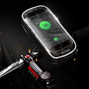preiswerte Fahrradlenkertaschen-Fahrradlenkertasche 5.7-6.3 Zoll Touchscreen Wasserdicht Radsport für Radsport Schwarz